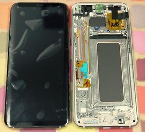 GENUINE GOLD SAMSUNG SM-G955F GALAXY S8 PLUS SCREEN AMOLED 2k LCD FRAME DISPLAY
