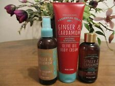 BATH & BODY WORKS GINGER & CARDAMOM MIST, CREAM & BODY OIL LOT OF 3