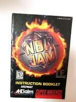 *NBA Jam TE Tournament Edition T.E. SNES Super Nintendo Instruction Manual Only