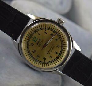 Vintage HMT Pilot 17Jewels Winding Working Wrist Watch For Men's Wear B-1786