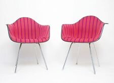 Rare Pair of 1960's Alexander Girard Miller Stripe Eames Herman Miller Chairs