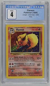 Pokemon 1999  Jungle Flareon Holo 3/64 CGC 4 PSA UNLIMITED 3760928159