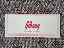 Vintage Gibson Guitars Warranty Card for 1980s PR650-12, Case Candy