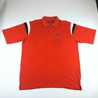 Pressbox Mens Orange Short Sleeve Auburn Tigers Cotton Polo Shirt 2XL NEW