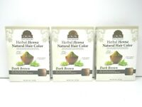 3 Okay DARK BROWN Pure Naturals Herbal Henna Natural Healthier Hair Color NEW