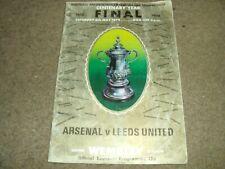 1972 FA CUP FINAL ARSENAL V LEEDS UNITED @ WEMBLEY 6TH MAY 1972