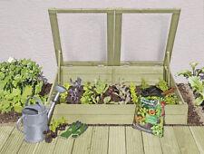 Frühbeet 119 x 80 x 30 cm, Mini-Gewächshaus Anzuchtkasten aus Holz KDI 61064