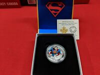 2014 Silver Iconic 15$ coin RCM Superman Action comic book cover #419 from 1972