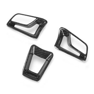 fit for Porsche 718 Cayman 2016-20 Carbon Inner Steering Wheel Cover Trim 3PC