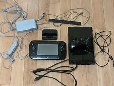 Nintendo Wii U Console - Black 32GB + Charging Dock + Controller - Works Great!