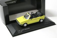 1:43 Minichamps VW Golf 1 MKI Cabriolet lemon yellow 1980