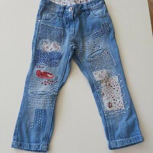 🌸 NEXT Jeans Hose Gr 98 im Bund verstellbar im guten gepflegten Zustand 🌸