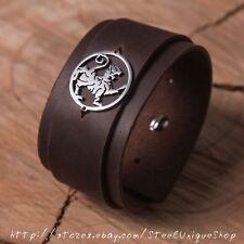 Shotokan Tiger Karate Brown Leather Bracelet