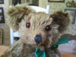 Antique Vintage 1940s mohair American Knickerbocker Teddy Bear 11in VGC