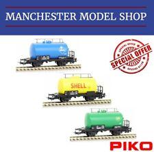Piko HO 1:87 3-piece set Tank Train Kesselwagen DB era III-IV NEW UNBOXED