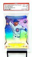 2014 Bowman Platinum Die Cut Cubs JAVIER BAEZ RC Card PSA 10 GEM MINT / Pop 6