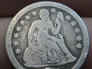 1841 P Seated Liberty Silver Dime- Philadelphia, Good/VG Details