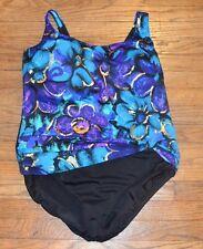 Great Lengths Plus Size One Piece Swim Suit Bathing Suit Swim Wear Size 24