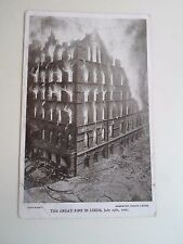 G184 Vintage Postcard The Great Fire In Leeds 25th July 1906 Franked 1906