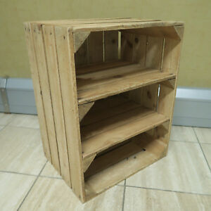 Handmade RUSTIC WOODEN SIDE TABLE + shelves - Made in Kent from reclaimed wood.