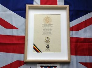 Oath Of Allegiance  15/19th Kings Royal Hussars  (framed with Cap Badge)