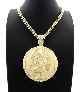 """New 14k 2PAC Euphanasia Pendant With 24"""" Cuban Link Chain Gold Plated"""