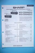 Service-Manual-Instructions pour Sharp WQ-CD54H/WQ-CD55H ,ORIGINAL