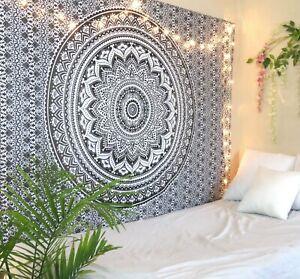 Indian Wall Hanging Twin Tapestries Handmade Bohemian Twin Size Bed Sheet Decor