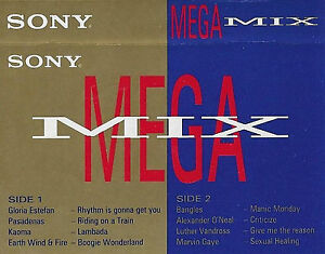 SONY MEGA MIX  ESTEFAN PASADENAS BANGLES EARTH WIND FIRE PROMO CASSETTE ALBUM