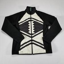Ralph Lauren Active L-RL Fleece jacket Aztec Native Tribal MEDIUM Black White