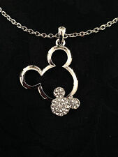 REDUCED! Brand New! Mickey Mouse Necklace/Pendant and Earrings Set
