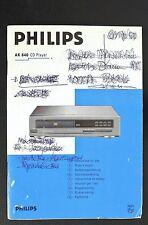 PHILIPS ak-640 ORIGINALE LETTORE CD istruzioni d'USO / istruzioni d'uso