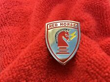 Us Air Force Civil Engineer Red Horse Hat/Lapel Pin
