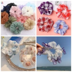 Organza Hair Scrunchies Elastic Girl Hair Bands Bobble Sports Scrunchie Hairband