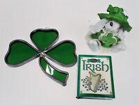 Resin Bunny Irish Tiny Book 3 Leaf Clover Shamrock Suncatcher Stained Glass