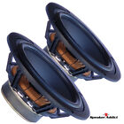 PAIR 6 1/2 - 7 inch 8Ohm High End Waterproof Woofer Cast Frame  Rubber Surround