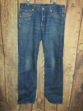 Levis 501 XX Button Fly Disressed Jeans Size 35 X 36 Actual 34 X 33
