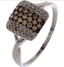 NEPHELI 9ct White Gold Diamond Ring  - Size R