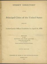 1908 Street Directory of the Principle Cities of the United States worn covers