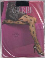 Collant fantaisie GERBE TOCADE coloris Noir. Taille 4 - 10. Fashion tights.