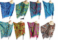 """""""African"""" KAFTAN/PONCHO, tunic top beach wear,one size,fits large plus size, new"""