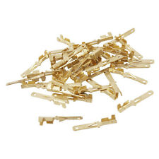 40 Pcs Gold Tone Male Spade Crimp Terminals 2mm Wiring Connectors DT