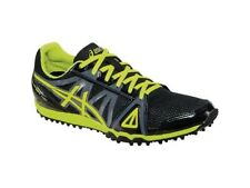 Asics Hyper XC Mens Cross Country Spike G509Y Size 13 Black/Flash Yellow