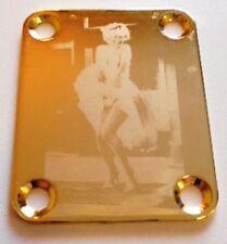 NECK PLATE MARYLIN MONROE - GOLD - plaque de manche de guitare ou de basse