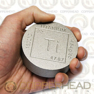 One Pound (16oz) Titanium Coin Element .996 Fine CP Grade 1 Bullion Round 1 lb