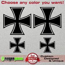 CHOPPER CROSS decal sticker vinyl HARLEY DAVIDSON HONDA YAMAHA VULCAN STEED HD