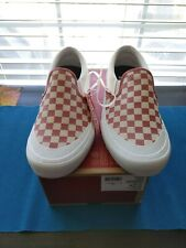 Vans Slip on Pro MENS SIZE 11 Checkerboard Mineral Red Canvas/ Suede NWT