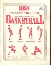 High School Basketball Program Illinois 1993 Tournament Boys AA