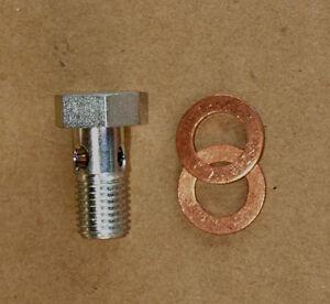 Hohlschrauben M8 x 1 kurze Ausführung DIN 7643-3 Kupferdichtringe