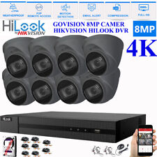 HIKVISION HILOOK 8MP CCTV 4K UHD DVR 4CH 8CH SYSTEM OUTDOOR CAMERA SECURITY KIT
